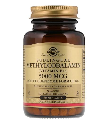Solgar Sublingual Methylcobalamin (Vitamin B12) 5000mcg 60 Nuggets