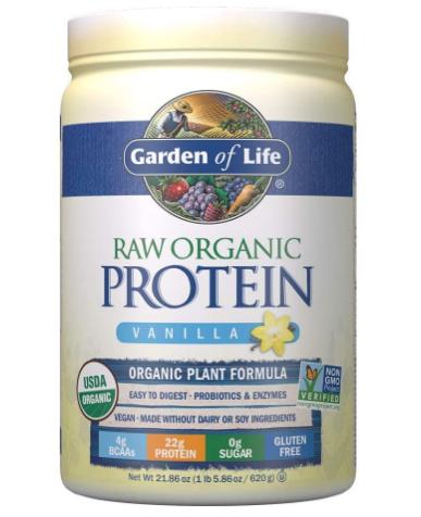 Garden of Life Raw Organic Protein Powder, Vanilla 21.86oz