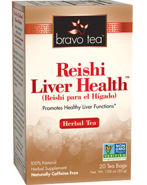Bravo Tea, Reishi Liver Health Herbal Tea