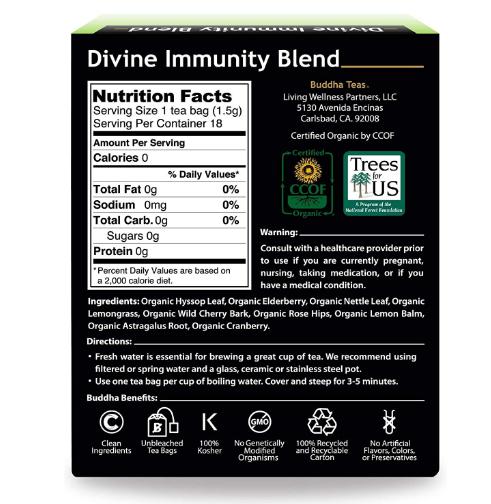 Buddha Teas, Divine Immunity Tea