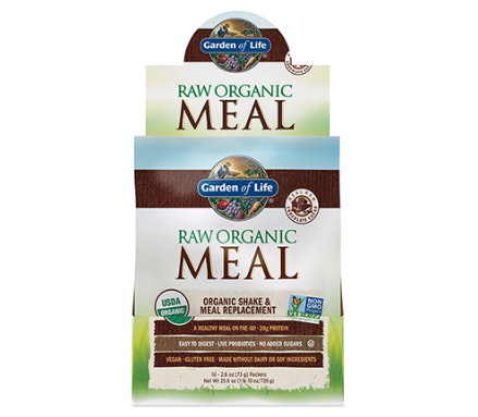 Garden of Life Raw Organic Meal Replacement & Shake, Real Raw Chocolate Cacao 2.6oz Single Packet