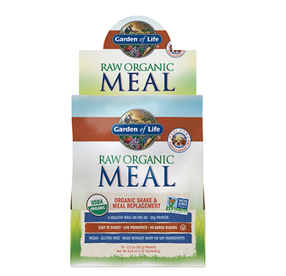 Garden of Life Raw Organic Meal Replacement & Shake, Real Raw Vanilla 2.4oz Single Packet