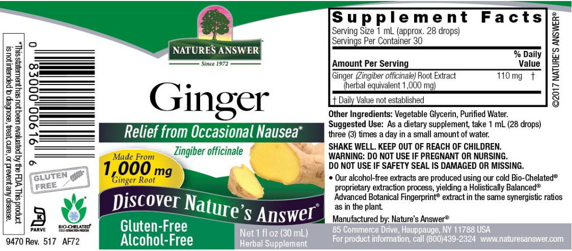 Nature's Answer Ginger