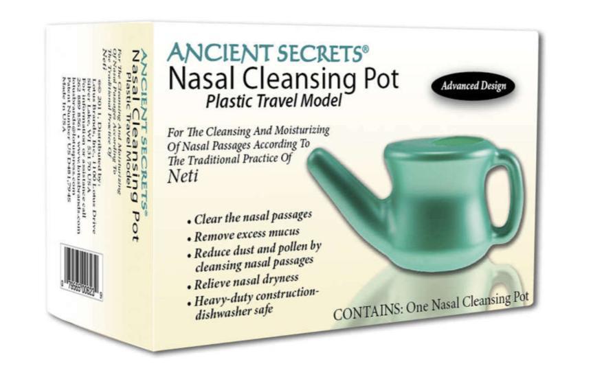 Ancient Secrets Nasal Cleansing Travel Pot