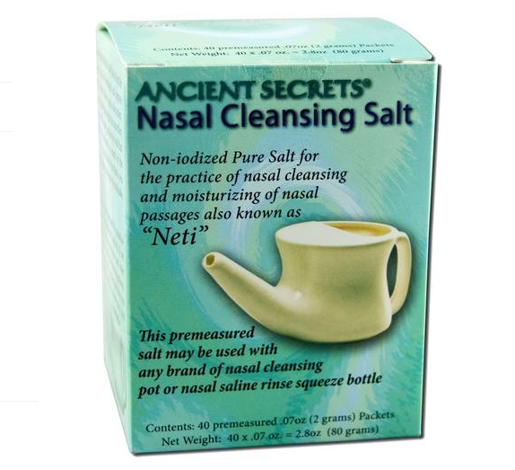 Ancient Secrets Nasal Cleaning Salt 40 Packets