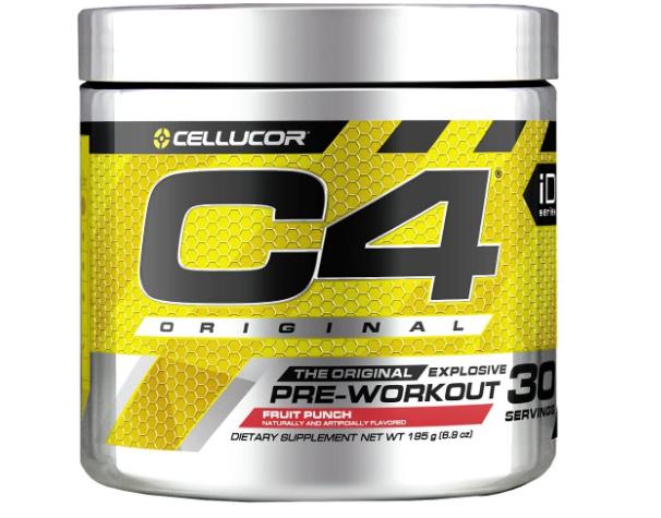 Cellucor C4 Original Pre-Workout, Fruit Punch 30 servings 6.88oz