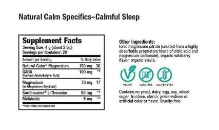 Natural Vitality Calm Specifics Calmful Sleep