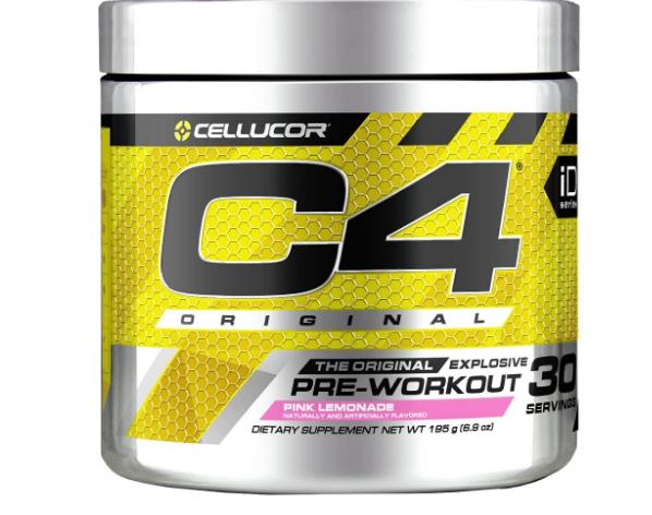 Cellucor C4 Original Pre-Workout, Pink Lemonade 30 Servings 6.3oz