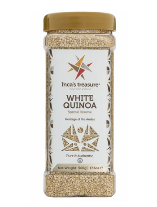 Incas's Treasure Quinoa Organic White Grains 17.6oz
