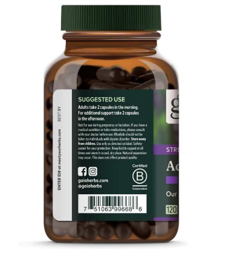 Gaia Adrenal Health 120 Vegan Liquid Phyto-Caps