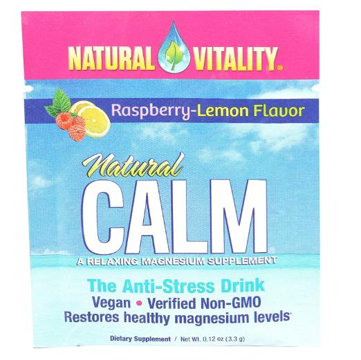 Natural Vitality Natural Calm Raspberry-Lemon 0.12oz Single Packet