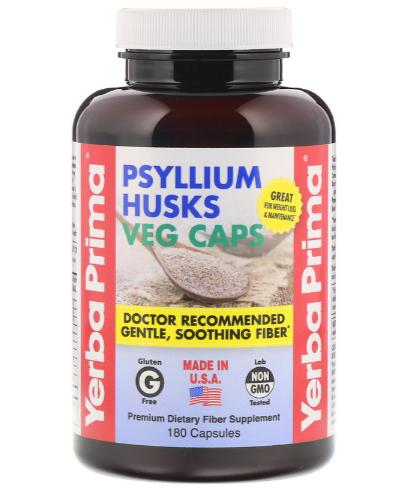 Yerba Prima Psyllium Husks180 caps