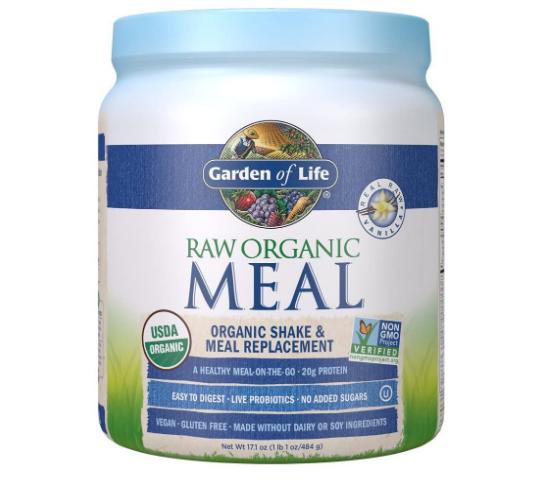 Garden of Life Raw Organic Meal Replacement & Shake, Real Raw Vanilla 17.1 oz