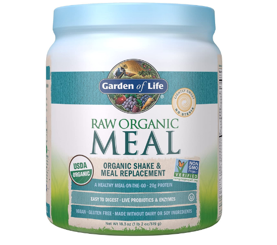 Garden of Life Raw Organic Meal Replacement & Shake, Lightly Sweet No Stevia 18.3oz
