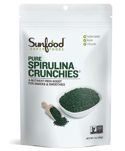 Sunfood Spirulina Crunchies 4oz