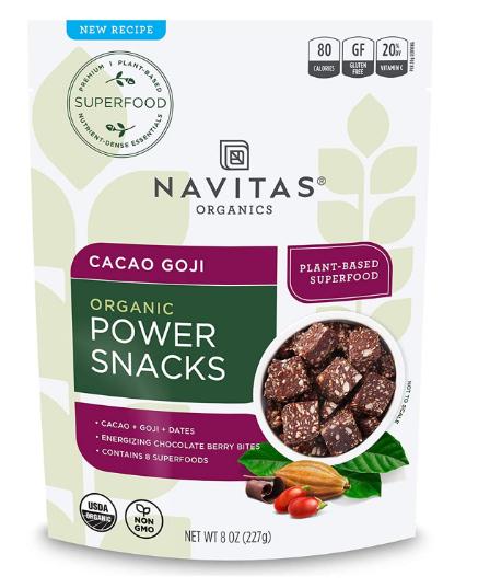 Navitas Cacao Goji Organic Power Snacks