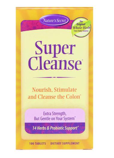 Nature's Secret Super Cleanse 100 Tablets