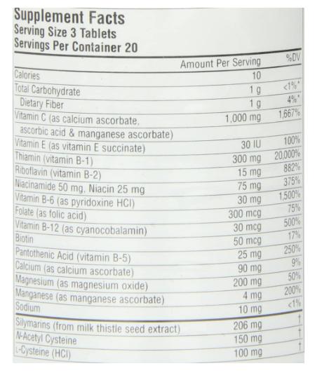 Source Naturals Hangover Formula 30 Tablets