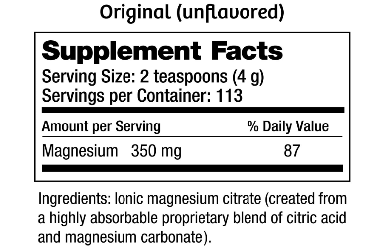 Natural Vitality Natural Calm Unflavored 16oz