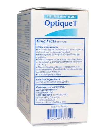 Boiron Optique1 Eye Irritation Relief Drops 30 Doses
