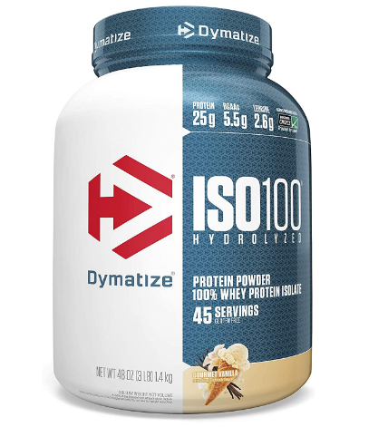 Dymatize ISO100 Protein Powder, Gourmet Vanilla 3LB