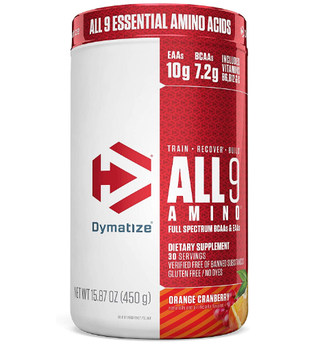 Dymatize All 9 Amino, Orange Cranberry 15.87oz