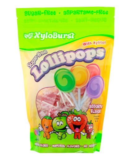 XyloBurst Lollipops Assorted Flavors 5 Count