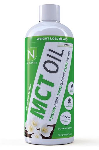 Nutrakey MCT Oil, Vanilla 16oz
