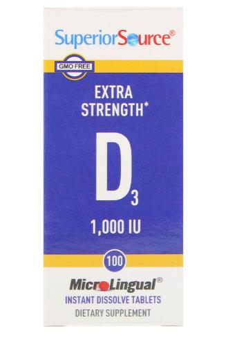 Superior Source D3 1,000IU 100 Instant Dissolve Tablets