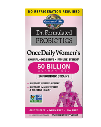 Garden of Life Dr. Formulated Once Daily Women's 50 Billion 30 Vegetarian Capsules