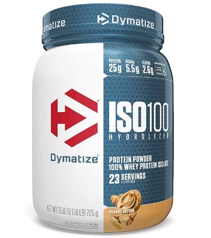 Dymatize ISO100 Protein Powder, Peanut Butter 1.6LB
