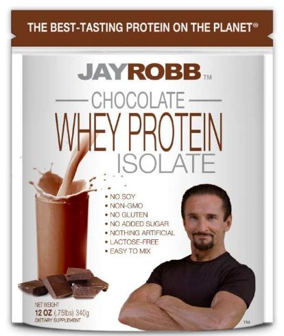 Jay Robb Chocolate Whey Proteins 12oz
