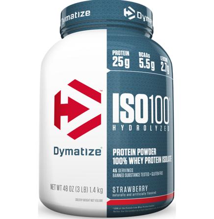 Dymatize ISO100 Protein Powder, Strawberry 3LB