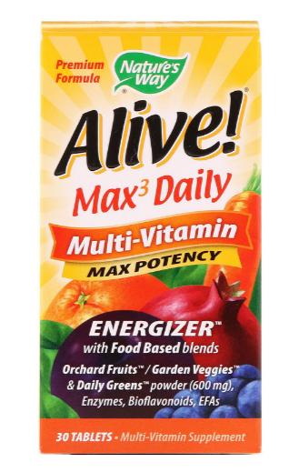 Nature's Way Max3 Daily Multi-Vitamin Energizer 30 Tablets