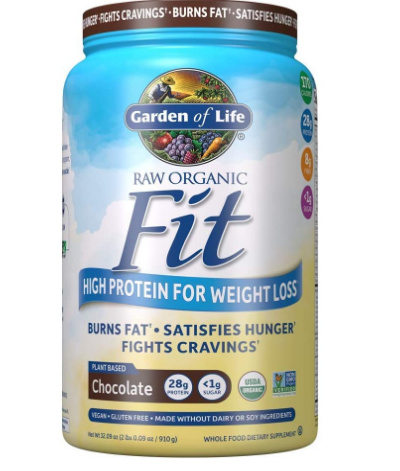 Garden Of Life Raw Organic Fit Weight Loss Protein Powder, Chocolate 2LB