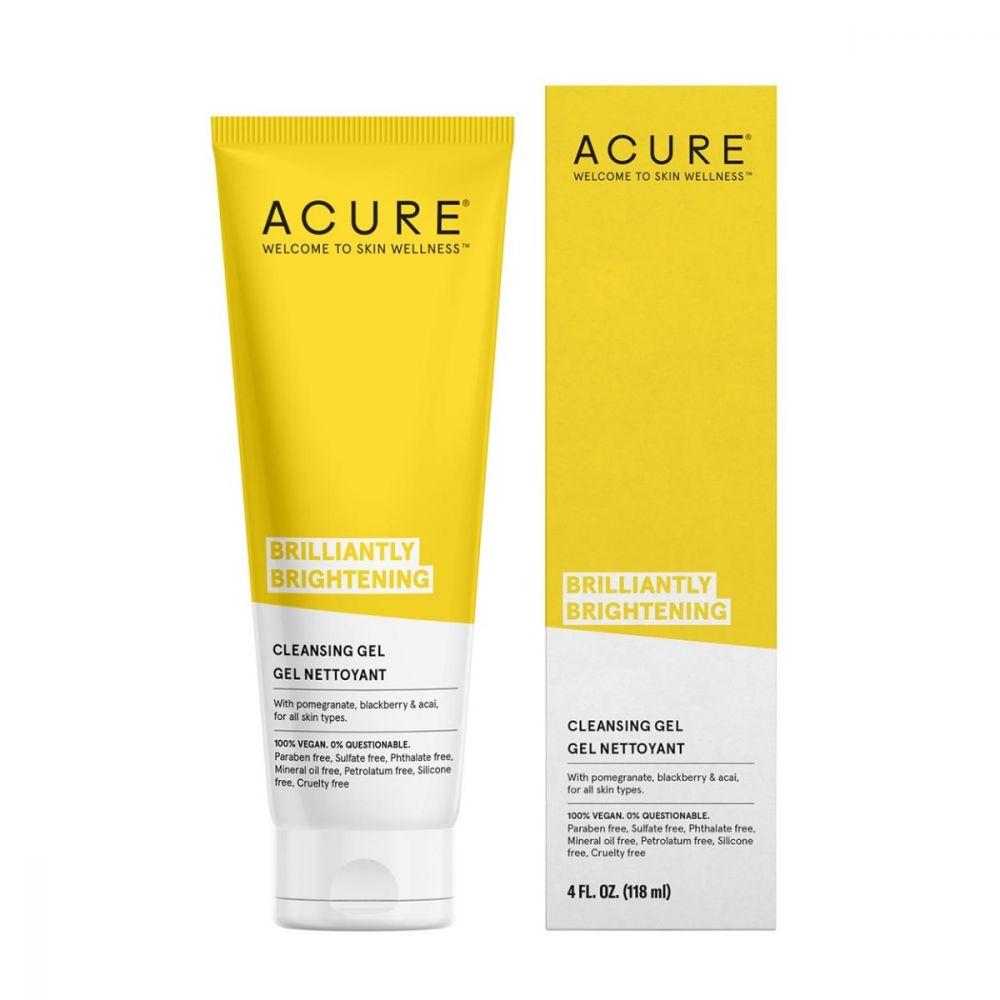 Acure Brilliantly Brightening Cleansing Gel 4oz