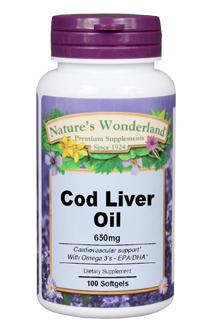Nature's Wonderland Cod Liver OIl 650mg