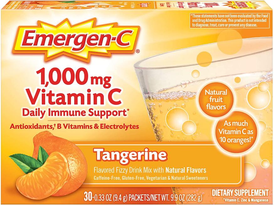 Emergen-C Tangerine 1000 mg 30 Single packs