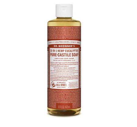 Dr. Bronner's Pure Castile Liquid Soap, Hemp Eucalyptus 16oz