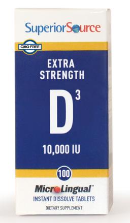 Superior Source D3 10,000 mcg 100 Count