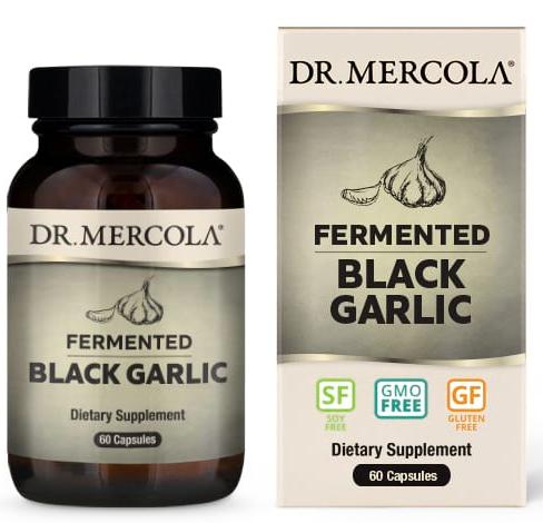 Dr. Mercola Fermented Black Garlic 60 Capsules