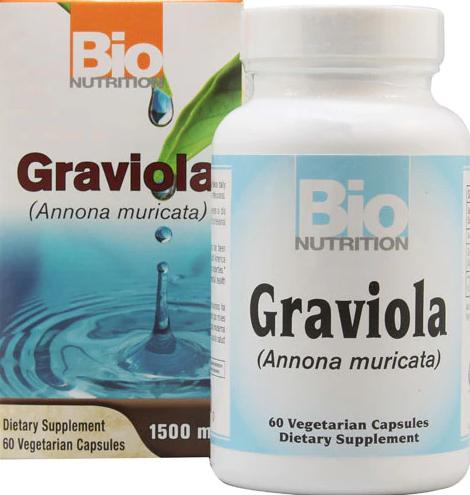 Bio Nutrition Graviola 1500mg 60 Vegetarian Capsules