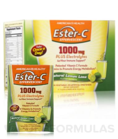 American Health Ester-C 1000 mg Lemon Lime 21 Packets