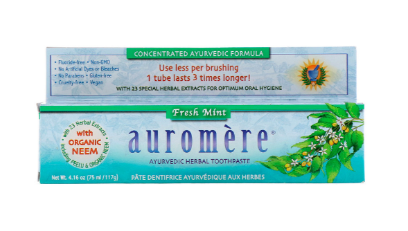 Auromere Ayurvedic Herbal Toothpase, Fresh Mint 4.16oz