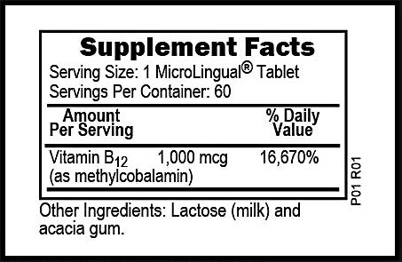 Superior Source Methylcobalamin B12 Tablets 60 Count