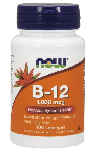 Now Vitamin B-12 Lozenges 1,000mcg 100 count