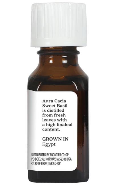 Aura Cacia Essential Oil, Sweet Basil 0.5oz