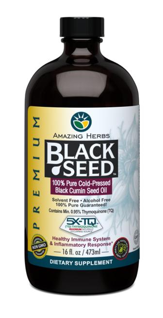 Amazing Herbs Black Seed Oil 16oz