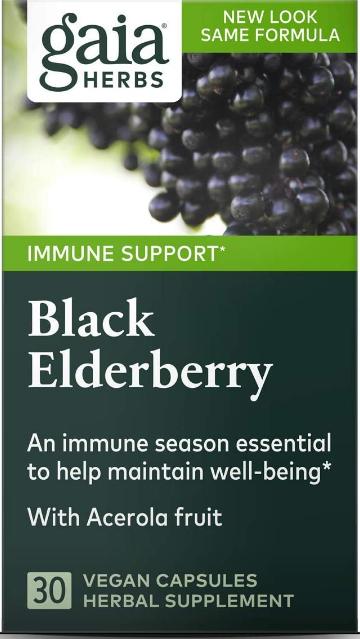 Gaia Black Elderberry 30 Capsules