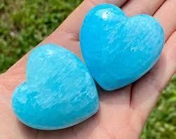Blue Aragonite Heart